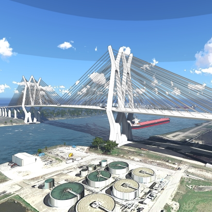 Houston Ship Channel Bridge - Rendering